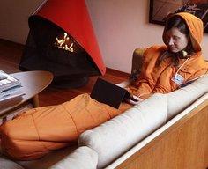 The Napsack sleeping bag looks like a giant hoodie