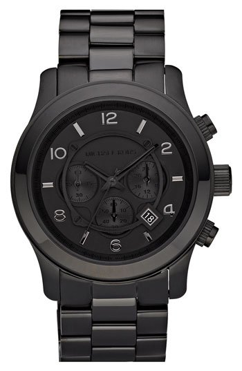 Michael Kors 'Blacked Out Runway' Chronograph Watch | Nordstrom