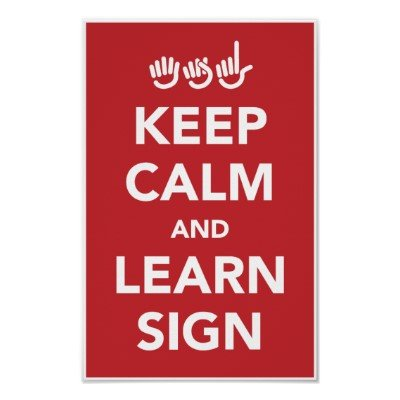 Keep calm and learn sign poster.