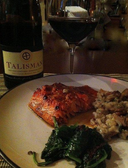 Brown Sugar & Mustard Glazed Planked Alaska Salmon