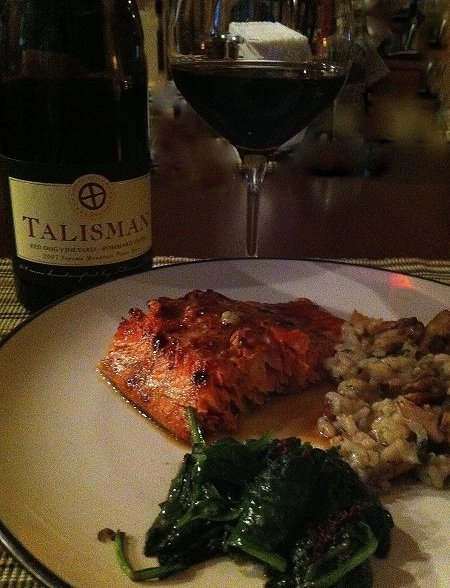 Brown Sugar & Mustard Glazed Planked Alaska Salmon