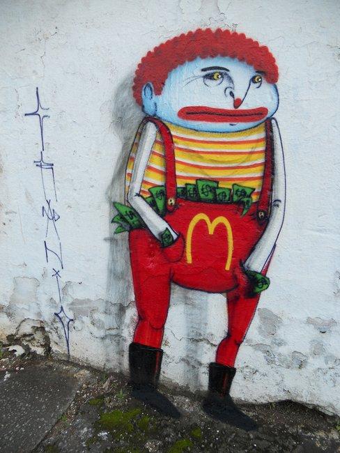 Amazonian tribal culture in the Street Art