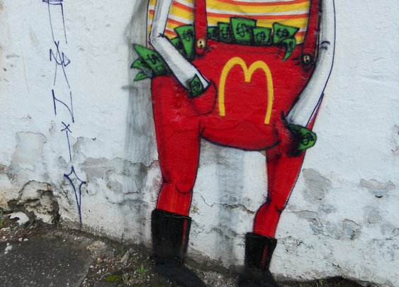 Amazonian tribal culture in the Street Art