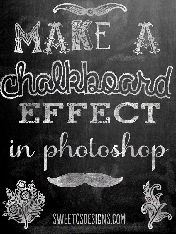 Make a Chalkboard Effect in Photoshop