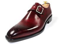 Custom made Burgundy monk strap
