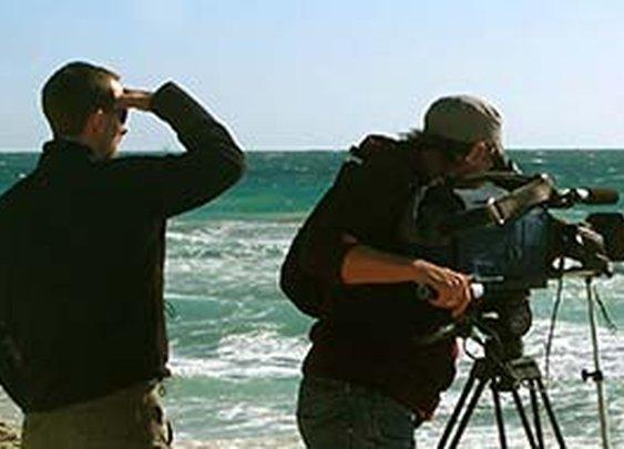 Filming in California