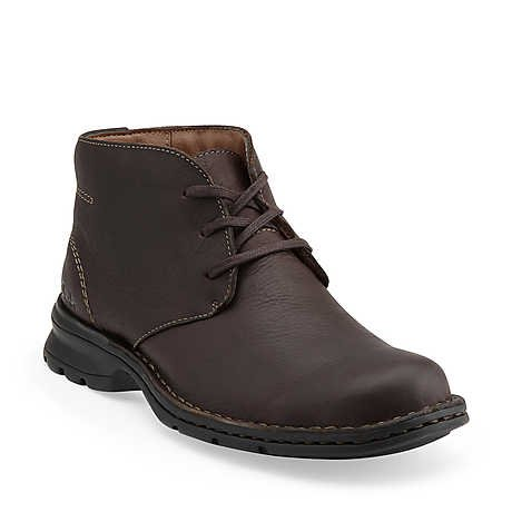 Simca in Brown Oily Leather - Mens Boots from Clarks