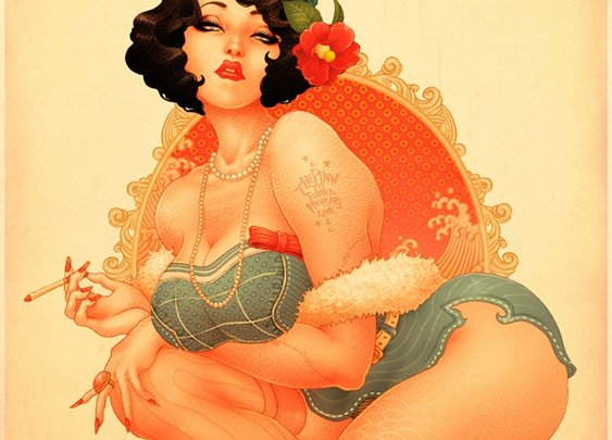 PINUP ILLUSTRATIONS || NationalTraveller.com