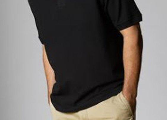 Natural Basix Pique Polo in Black