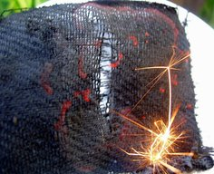 * Mungo Says Bah * Bushcraft Blog: Tutorial: How to Make Charcloth for Tinder for a Firesteel or Steel Striker