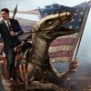 Ronald Reagan Rides a Raptor into battle against the Commies!