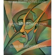 Portrait of a Man - Cubism Oil Paintng