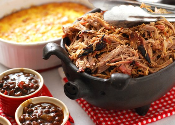 Nibble Me This: Pulled Pork and Corn Puddin'
