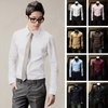 New Mens Luxury Stylish Casual Dress Slim Fit Long Sleeve 8 Color Shirts 044