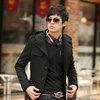 Men Fashion Slim Fit Woolen Trench Coat Jacket Overcoat