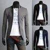 Korean Mens Slim Fit Premium Button Jacket China Collar Short Blazer Coat