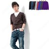 NWT Mens Premium Stylish V-NECK Cardigan Slim Men's Sweater