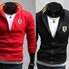 New Mens Fashion Slim Fit Casual Sport Printing Coat Jacket US Size XS S M L