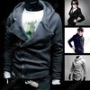 NWT Mens Slim Sexy Top Designed Hoody Coat Jacket Hoodies XS S M L 4color