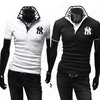 NEW York Yankees Embroidered Avant-garde Slim Mens Shirt Short-sleeved POLO
