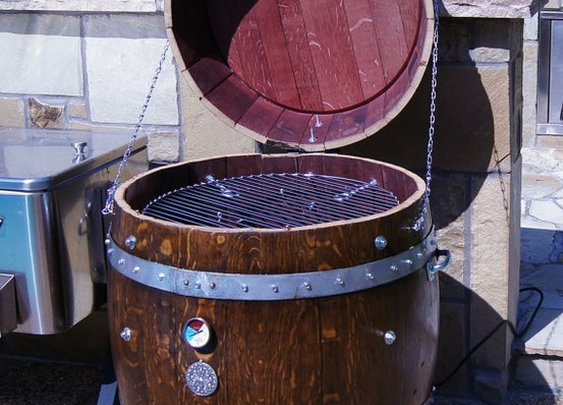 Wine Barrel Electric Smoker by winebarrelwoodcraft