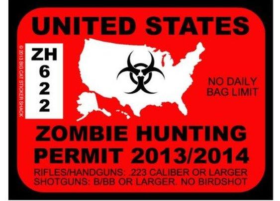Renew your permit for the upcoming apocalypse.