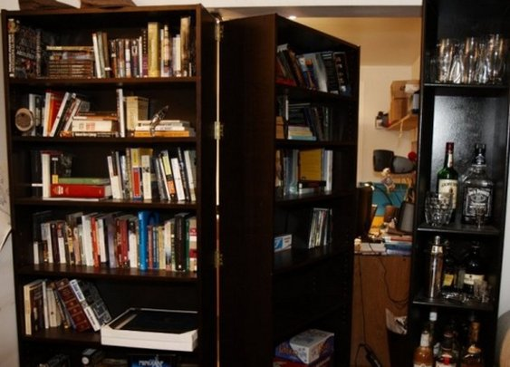 Build a DIY Secret Bookcase Doorway - StumbleUpon