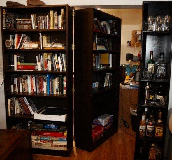 Build a DIY Secret Bookcase Doorway - StumbleUpon