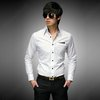 Mens Luxury Stylish Casual Dress Slim Fit Long Sleeve White Shirts XS S M L 032