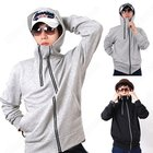 New Unique Zipper Hooded Jacket Casual Men's Fashion Sweater T-shirt Coat