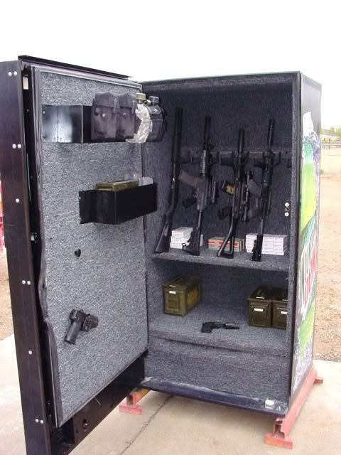 Soda Machine Gun Safe