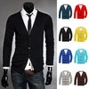 Men's Slim Fit V-neck Long Sleeves Knitwear Cardigan Sweater 8 colors 4 size