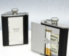 Flask with Secret Cash and Cigarette Compartment