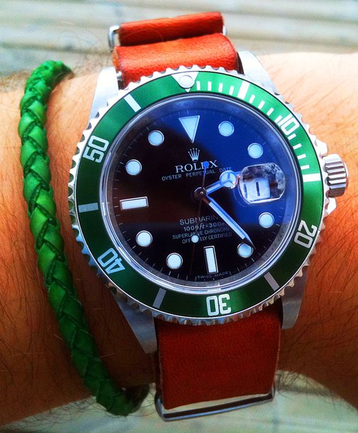 Marcus' LV Submariner On A Kangaroo NATO Strap