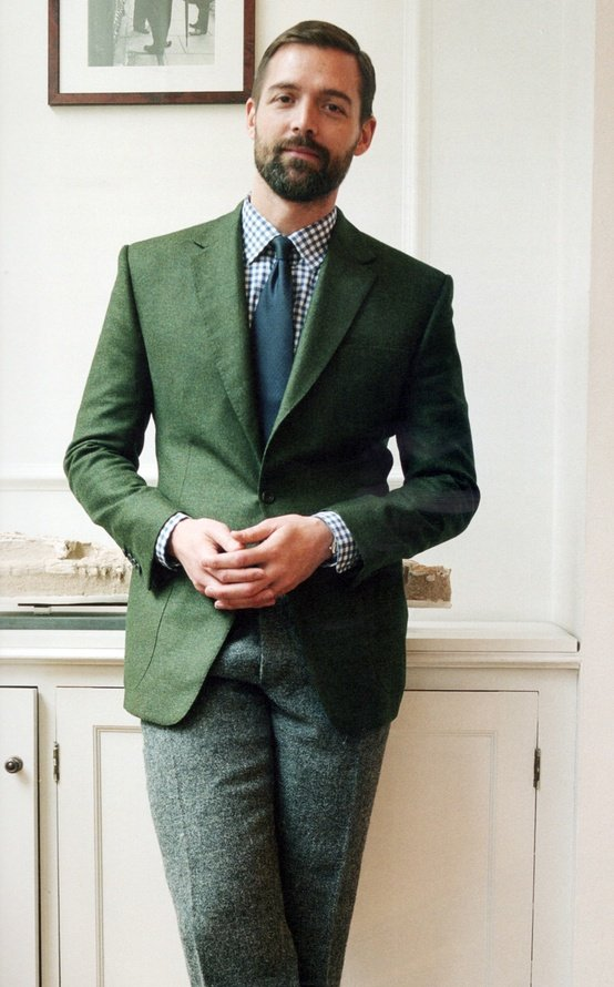 Men's Style, in green suit | Gentlemint