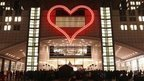 BBC News - Vaclav Havel honoured with giant neon heart in Brussels
