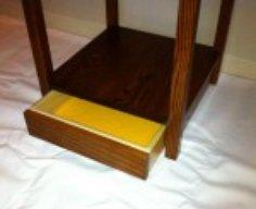Secret Drawer Compartment in Base of Coat Rack