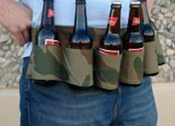 Camo Six-Pack Beer Holster Belt