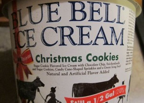Tis' the Season to Eat Ice Cream!!!!   Blue Bell Christmas Cookies Ice Cream » FatGuyEats.com