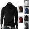 Mens Fashion Stylish Turtleneck Best Dress Long Sleeve Polo Shirt Slim Sweater