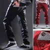 Mens Stylish Fashion Casual Pocket Design Straight Cotton Pants Trousers