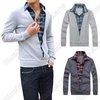 Mens Casual Fashion Stylish Shirt Collars Best Dress Long Sleeve All-match Sweater