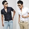 Mens Slim Fit Designer Short Sleeve Dress Casual Cotton Stripe Collar Shirts 023