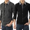 Mens Casual Shirts Collars Best Dress Long Sleeve False Shirts Sweater