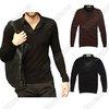 Mens Casual Fashion Stylish Shirt Collars Best Dress Long Sleeve Slim Fit Sweater