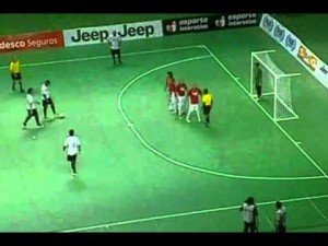Falcao Amazing Futsal Goal Spinning Backheel Lob Free Kick