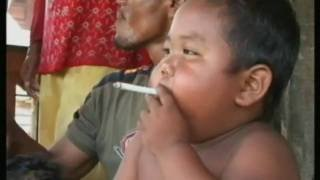 Indonesian baby on 40 cigarettes a day - Can you believe this?