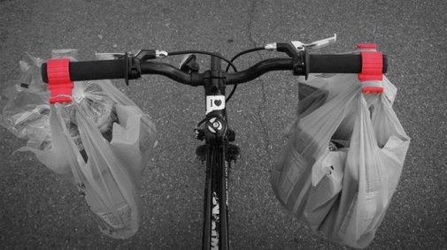 The Bag Buddy makes shopping on a bicycle less of a chore