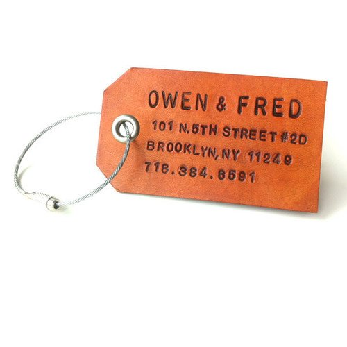 Owen and Fred Custom Leather Tags — The Man's Man