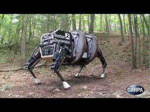 DARPA Four Legged Robot in Action